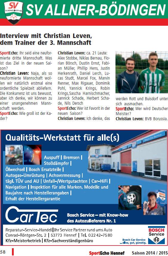 Quelle: SportEcho Hennef - Danke an Thomas Schriever