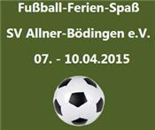 Fußball Ferien Spaß Ostern 2015