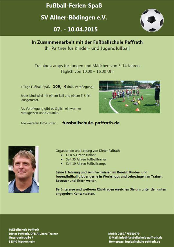 Fußball-Ferien-Spaß in den Osterferien 2015