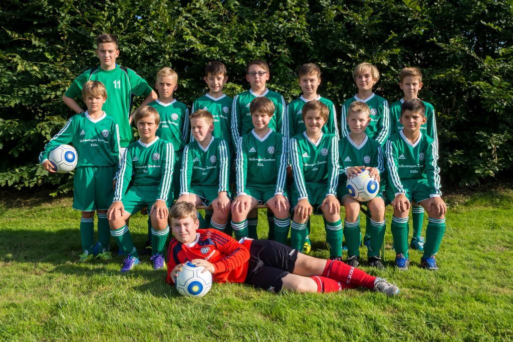 Saison 2015/16 – Mannschaftsfoto U13-2 vom 22.8.2015