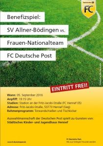 Benefizspiel gegen Deutsche Post